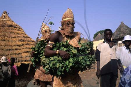 ancestral: SENEGAL. Tambacounda Region  ( Bassari Country )  BEDIK    Village of Iwol   ; Chicken slaughter animist rite.