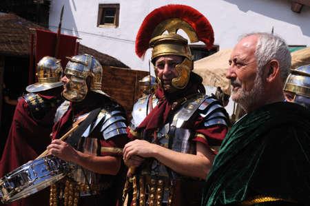 asturias: Roman legionnaires   Astur-Roman Festival of  La Carisa   CARABANZO  Asturias SPAIN.