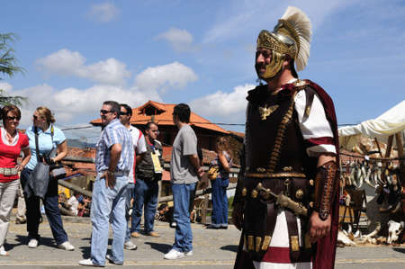 Roman legionnaires   Astur-Roman Festival of  La Carisa   CARABANZO  Asturias SPAIN.
