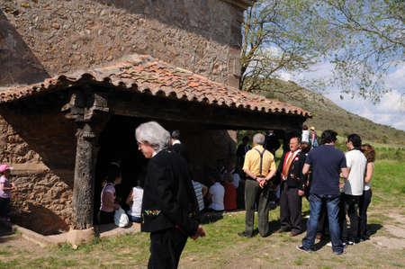 SPAIN. Castilla-La Mancha. Guadalajara. ATIENZA; Feast   LA CABALLADA .   Brotherhood of the mule drivers  Pilgrimage to the hermitage of  La Estrella ( 1736 ).