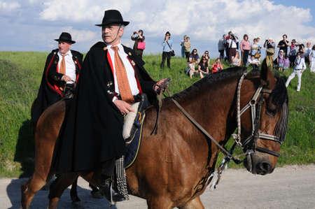 SPAIN. Castilla-La Mancha. Guadalajara. ATIENZA;  Feast   LA CABALLADA .   Brotherhood of the mule drivers  Brotherhood on horseback.