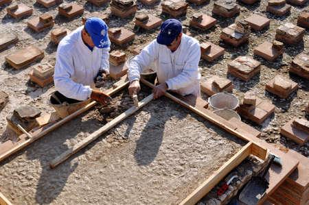 Hypocaust - Thermal Baths restoration of the Roman City of Complutum  ALCALA DE HENARES Madrid  SPAIN Stock Photo - 11952096