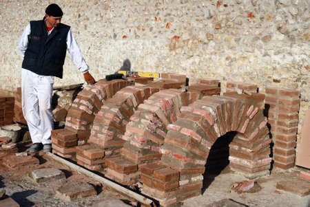 Hypocaust - Thermal Baths restoration of the Roman City of Complutum  ALCALA DE HENARES Madrid  SPAIN