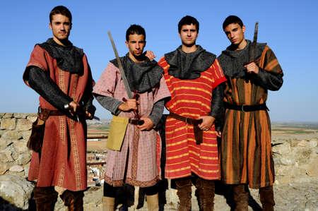 don quijote: Recreaci�n Hist�rica en el Castillo durante el Festival Medieval de Consuegra - Ruta de Don Quijote (Conmemoraci�n de la batalla (1097) Provincia de Toledo ESPA�A Castilla-La Mancha...