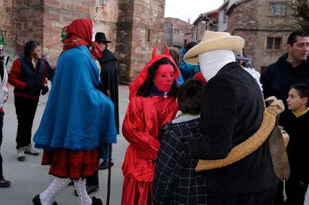 castille:  Luzon , SPAIN - 5 March, 2011 -    Devils Luz�n    Carnival in  LUZON. Guadalajara . Castille - La Mancha . SPAIN Editorial