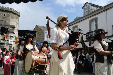 Vilalba , SPAIN- 9 JULY , 2011 -    Medieval Festival  VILALBA.  Province of  Lugo.  Galiza . SPAIN