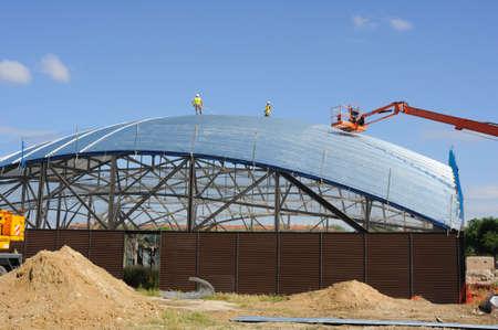 ALCALA DE HENARES , Spain - 04 April 2011 - . Construction of the Museum