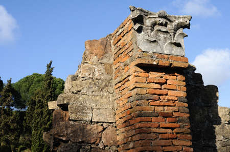 civililization:  Column - Thermal Baths  of the Roman city of  MIROBRIGA  (1st -4 th AD) SANTIAGO DO CACEM  Alentejo Region  PORTUGAL.