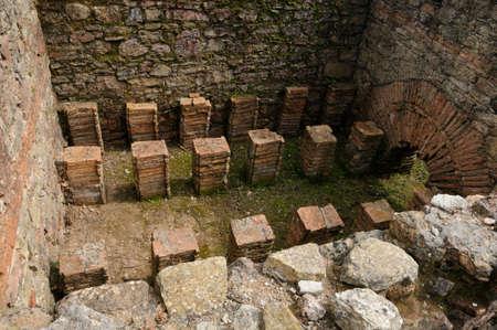 civililization:  Hypocaustum -Thermal Baths  of the Roman city of  MIROBRIGA  (1st -4 th AD) SANTIAGO DO CACEM  Alentejo Region  PORTUGAL.