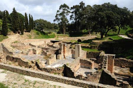 civililization:  View Thermal Baths  of the Roman city of  MIROBRIGA  (1st -4 th AD) SANTIAGO DO CACEM  Alentejo Region  PORTUGAL.  Editorial