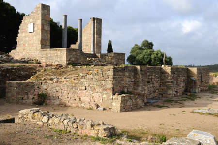 civililization: Temple dedicated  Imperial Cult of the Roman city of  MIROBRIGA  (1st -4 th AD) SANTIAGO DO CACEM  Alentejo Region  PORTUGAL.  Editorial