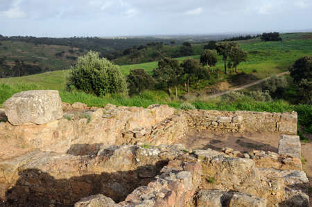 civililization:  Roman city of  MIROBRIGA  (1st -4 th AD) SANTIAGO DO CACEM  Alentejo Region  PORTUGAL.   Editorial