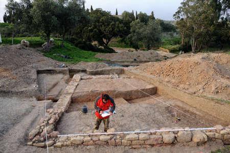 civililization: Archeological site  of the Roman city of  MIROBRIGA  (1st -4 th AD) SANTIAGO DO CACEM  Alentejo Region  PORTUGAL.