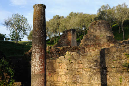 civililization:  Thermal Baths  of the Roman city of  MIROBRIGA  (1st -4 th AD) SANTIAGO DO CACEM  Alentejo Region  PORTUGAL.  Editorial