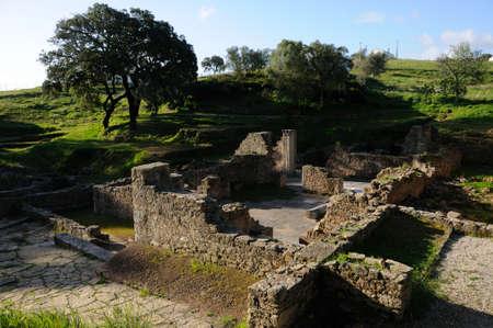 civililization:  View Thermal Baths  of the Roman city of  MIROBRIGA  (1st -4 th AD) SANTIAGO DO CACEM  Alentejo Region  PORTUGAL.  Editorial