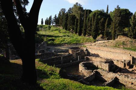 Hypocaustum -Thermal Baths  of the Roman city of  MIROBRIGA  (1st -4 th AD) SANTIAGO DO CACEM  Alentejo Region  PORTUGAL.  Stock Photo - 12142595