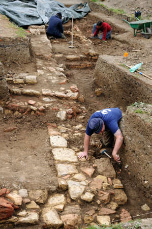 Archeological site  of the Roman city of  MIROBRIGA  (1st -4 th AD) SANTIAGO DO CACEM  Alentejo Region  PORTUGAL.