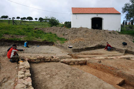 civililization: Archeological site  of the Roman city of  MIROBRIGA  (1st -4 th AD) SANTIAGO DO CACEM  Alentejo Region  PORTUGAL.