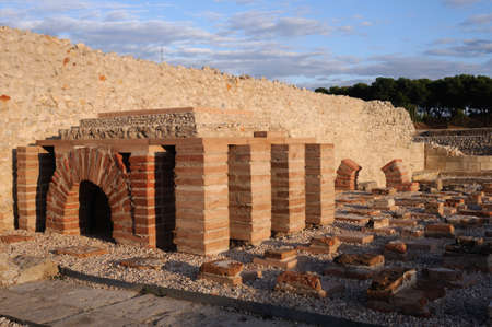 Hypocaust - Thermal baths of the Roman City of Complutum  ALCALA DE HENARES Madrid  SPAIN