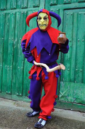 guadalajara: Razbona , SPAIN - 6 JANUARY, 2011 -  Mask    La Botarga   magical characters at carnival. ( Crop improvement ). Asking for alms in  RAZBONA    Province of  Guadalajara.  Castille- La Mancha . SPAIN