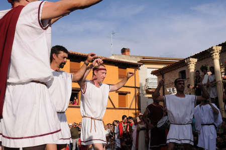 SPAIN. Castilla y Le�n .Burgos .Ba�os de Valdearados .   FEAST of BACCHUS  ;  Traditional dance