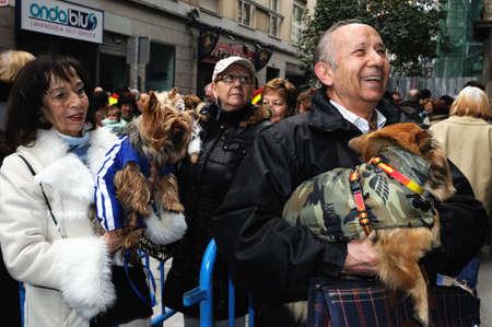 anton: Madrid , SPAIN - 17 JANUARY ,2011. -  SAN ANTON Church   Festivity of St. Anton ( Animals Patron ) on January 17  .