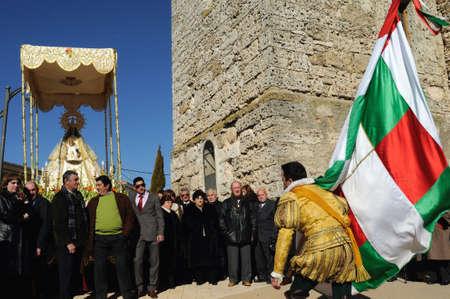 castille: Mazuecos SPAIN - 24 JANUARY,2011 - ;  Feast   LA SOLDADESCA  Commemoration  of the  Battle of Lepanto  ( 1571 ). Province of Guadalajara. Castille- La Mancha . SPAIN