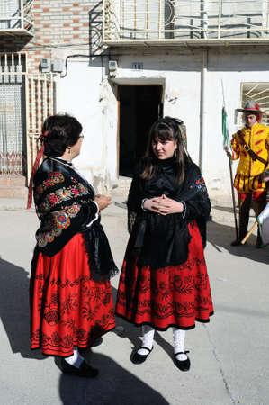 Mazuecos SPAIN - 24 JANUARY,2011 - ;  Feast   LA SOLDADESCA  Commemoration  of the  Battle of Lepanto  ( 1571 ). Province of Guadalajara. Castille- La Mancha . SPAIN