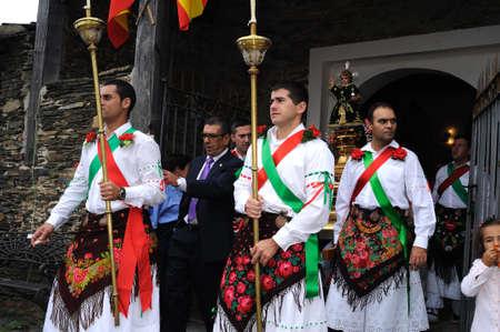 castille: Procession   Fiesta del Santo Ni�o  MAJAELRAYO ( Black Architecture route ) Province of Guadalajara . Castille - La Mancha . SPAIN