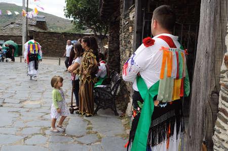 castille: Procession   Fiesta del Santo Ni�o  MAJAELRAYO ( Black Architecture route ) Province of Guadalajara . Castille - La Mancha . SPAIN   Editorial