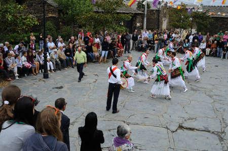 castille:  Sword Dance   during   Fiesta del Santo Niño  MAJAELRAYO ( Black Architecture route ) Province of Guadalajara . Castille - La Mancha . SPAIN