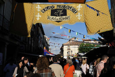 Quixote Market ' Cervantes Week ' in ALCALA DE HENARES.Community of Madrid .SPAIN