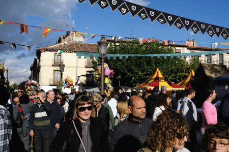 festoons:  Quixote Market  Cervantes Week  in ALCALA DE HENARES.Community of Madrid .SPAIN  Editorial
