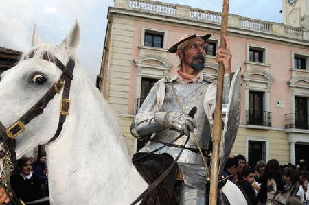 festoons:  Quixote Market  Cervantes Week  in ALCALA DE HENARES.Community of Madrid .SPAIN  Editorial