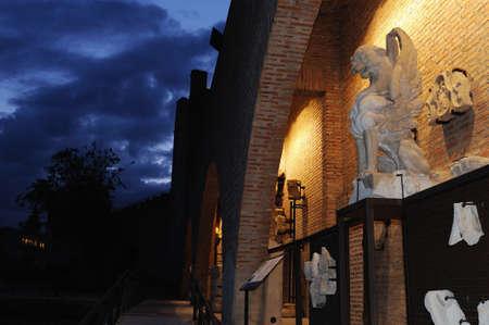 Pieces . Renaissance (  Plateresque )   Weapons Court - ARCHBISHOPS PALACE    belonging to the ANTIQUARIUM - Wall of  ALCALA DE HENARES ( 13 th ). Community of Madrid .SPAIN