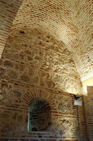 Vault .  Interior Watchtower  belonging to the Wall of  ALCALA DE HENARES ( 13 th ). Community of Madrid .SPAIN  Stock Photo - 13714462
