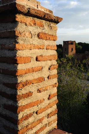 Wall of  ALCALA DE HENARES ( 13 th ). Community of Madrid .SPAIN  Stock Photo - 13714460