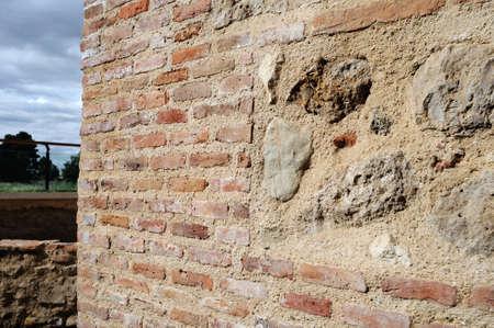 Tower masonry . Wall of  ALCALA DE HENARES ( 13 th ). Community of Madrid .SPAIN Stock Photo - 13745270