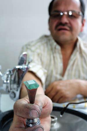 artifact:  Emerald cut  Emerald Center  in  BOGOTA Department of Cundimarca COLOMBIA Editorial