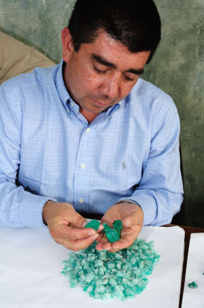 Workshop  Emerald Center  in  BOGOTA Department of Cundimarca COLOMBIA