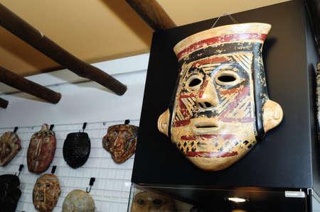 """san agustin: San Agust�n, la m�scara de """"Hombres de Barro - La Casona del Museo"""" en Bogot� Departamento de Cundinamarca.. COLOMBIA"""