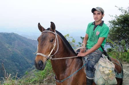 huila: Road - Aguas Calientes en RIVERA. Departamento del Huila. COLOMBIA Editorial