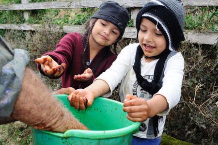 huila: Honey . Road - Aguas Calientes in RIVERA . Department of Huila. COLOMBIA Editorial