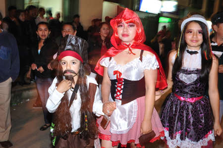 san agustin:  Halloween in San Agustin. Department of Huila. COLOMBIA