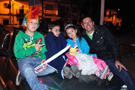 san agustin: Halloween en San Agustin. Departamento del Huila. COLOMBIA Editorial