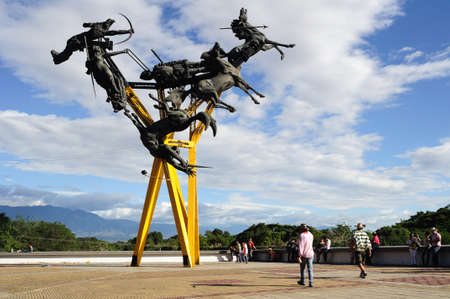 huila: La Gaitana en Neiva. Departamento del Huila. COLOMBIA