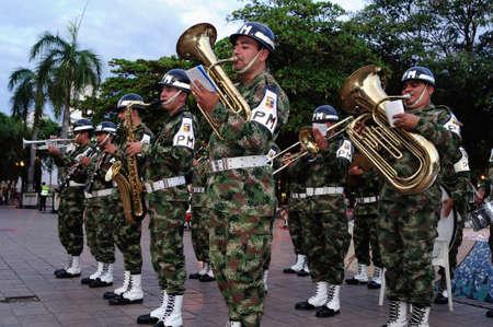 huila: Independencia Day.Plaza Santander en Neiva. Departamento del Huila. COLOMBIA Editorial