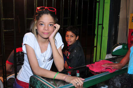 antioquia: Teen.Calle Maturin in  MEDELLIN .Department of Antioquia. COLOMBIA