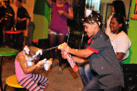 antioquia: New Year Party .Calle Maturin in  MEDELLIN .Department of Antioquia. COLOMBIA Editorial