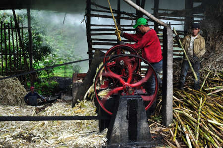 Panela ( sugarcane ) in ISNOS ( San Agustin ). Department of Huila. COLOMBIA Stock Photo - 18799716